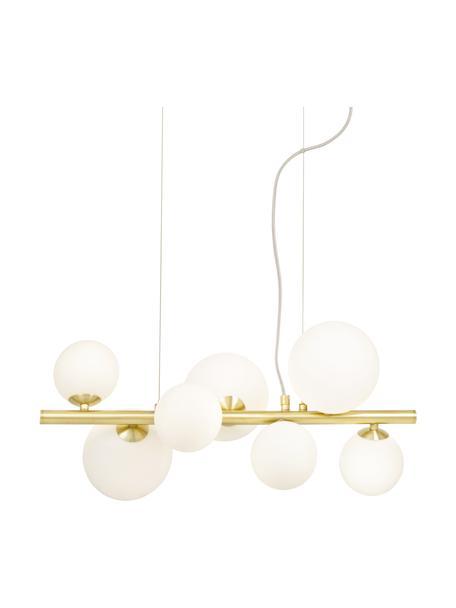 Lampa wisząca ze szkła opalowego Molekyl, Odcienie złotego, biały, S 58 x W 26 cm
