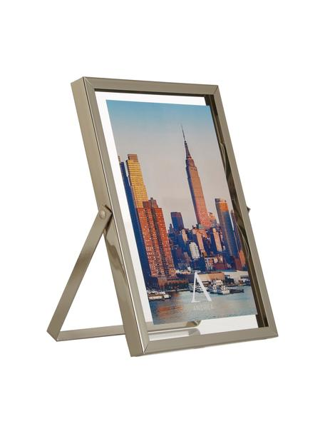 Portafoto da tavolo Marco, Cornice: metallo, Argentato, Larg. 13 x Alt. 18 cm