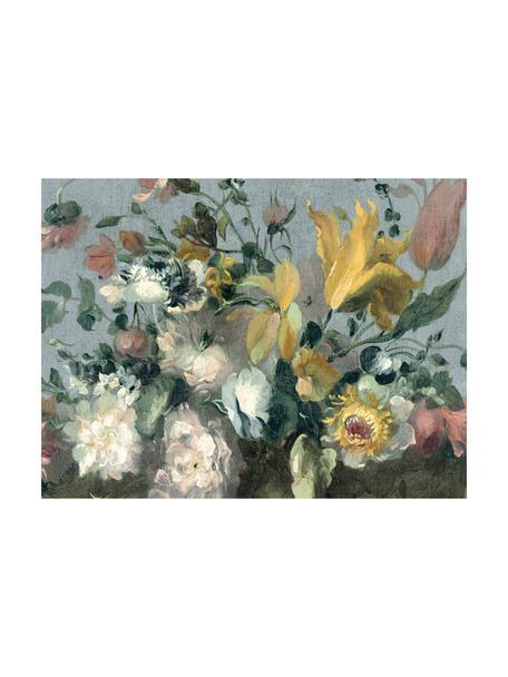 Papel pintado mural Oil Painted Flowers Bright, Tejido no tejido, Multicolor, An 372 x Al 280 cm