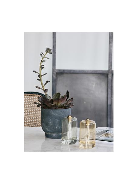 Olielamp Nias, Glas, Geel, Ø 7 x H 11 cm