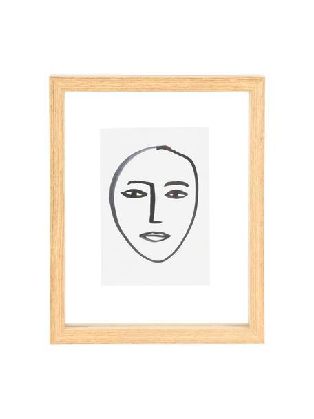 Ingelijste digitale print Aesthetic, Lijst: MDF, Afbeelding: papier, Bruin, wit, zwart, 15 x 20 cm