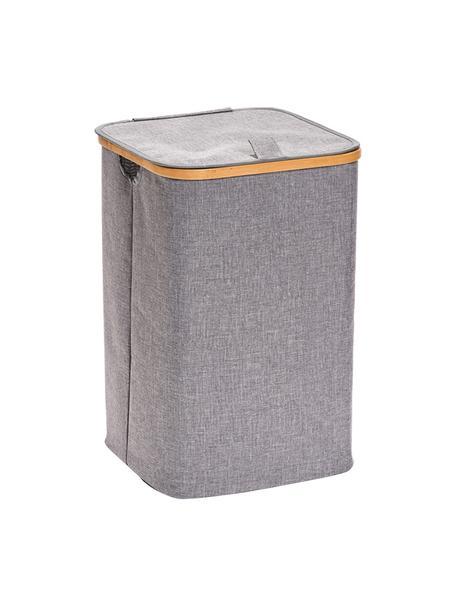 Wasmand Appa, Mand: 100% polyester, Frame: bamboe, Grijs, beige, 33 x 51 cm