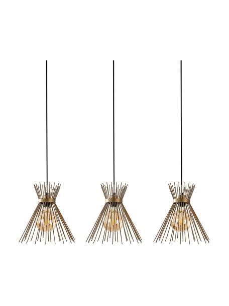 Lámpara de techo grande de diseño Kirpi, Anclaje: metal recubierto, Cable: plástico, Latón, negro, An 104 x F 30 cm