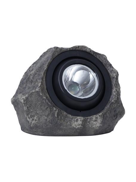 Lampada da terra solare Rocky, Struttura: materiale sintetico, Grigio, Larg. 20 x Alt. 16 cm