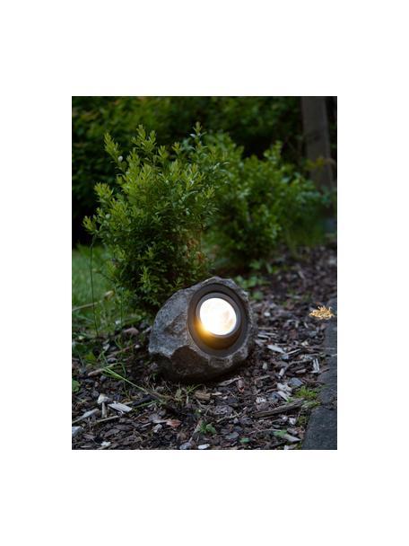 Solar vloerlamp Rocky, Grijs, 20 x 16 cm