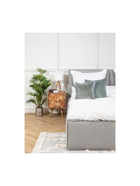 Poszewka na poduszkę z aksamitu Phoeby, Bawełna, Szałwiowa zieleń, S 40 x D 40 cm