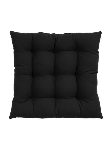 Cojín de asiento Ava, Funda: 100%algodón, Negro, An 40 x L 40 cm