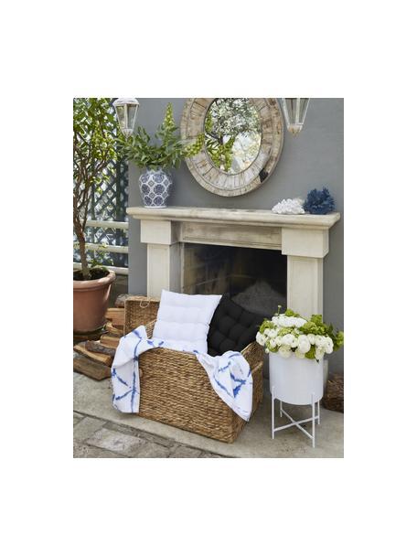 Sitzkissen Ava in Schwarz, Bezug: 100% Baumwolle, Schwarz, 40 x 40 cm
