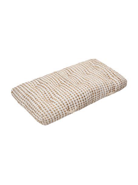 Poduszka podłogowa z bawełny/juty w stylu boho Fiesta, Tapicerka: 55% bawełna chindi, 45% j, Biały, beżowy, S 120 x W 13 cm
