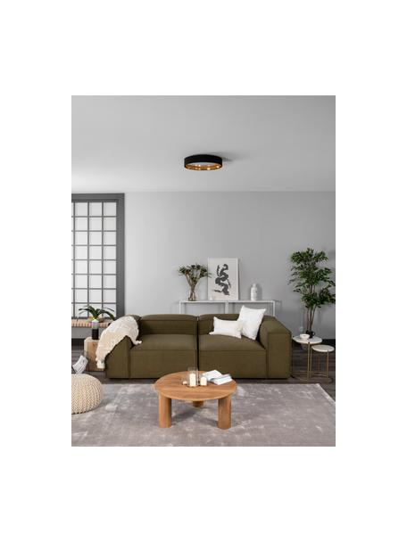 LED plafondlamp Mallory in zwart, Frame: metaal, Diffuser: kunststof, Zwart, Ø 41 x H 10 cm