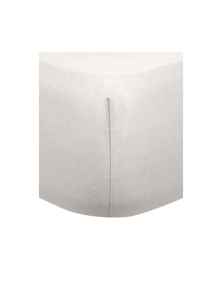 Lenzuolo con angoli in flanella taupe Biba, Tessuto: flanella, Beige, Larg. 90 x Lung. 200 cm