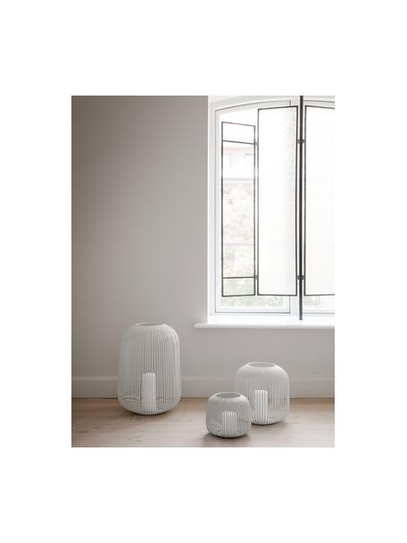 Lantaarn Lito, Metaalkleurig, Wit, Ø 28 x H 27 cm