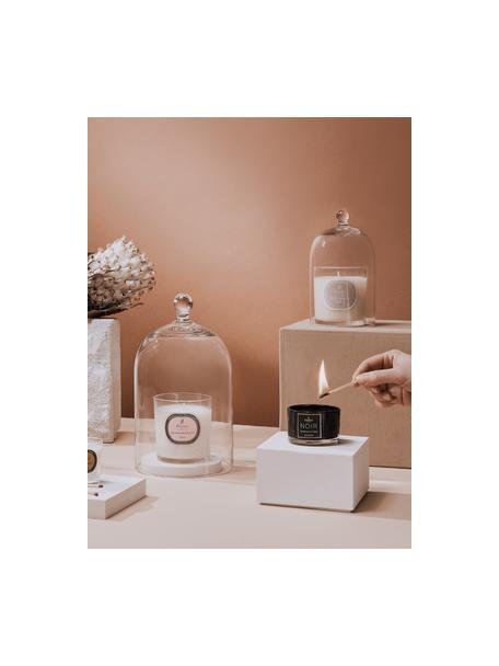 Vela perfumada Black Magic (jazmín blanco, ylang ylang y pachuli), Recipiente: vidrio, Negro, blanco, Ø 7 x Al 5 cm