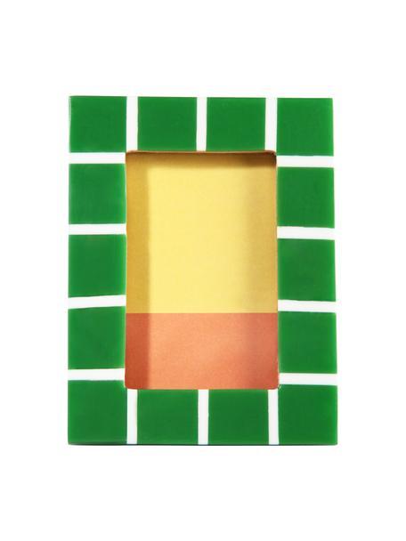 Fotolijstje Check, Kunststof, Groen, 8 x 11 cm