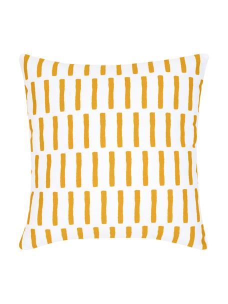 Poszewka na poduszkę Jerry, Bawełna, Pomarańczowy, biały, S 40 x D 40 cm
