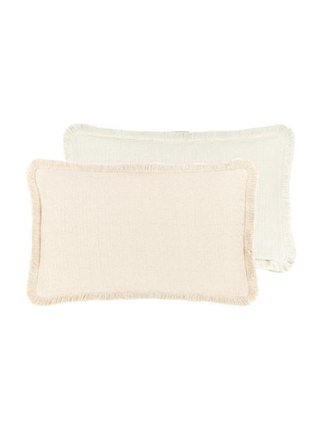 Federa arredo reversibile beige Loran, 100% cotone, Beige, Larg. 30 x Lung. 50 cm