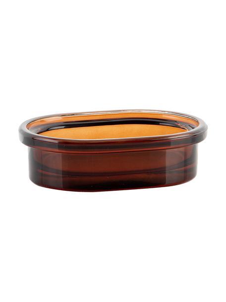 Seifenschale Dorsey, Glas, Braun, 10 x 4 cm