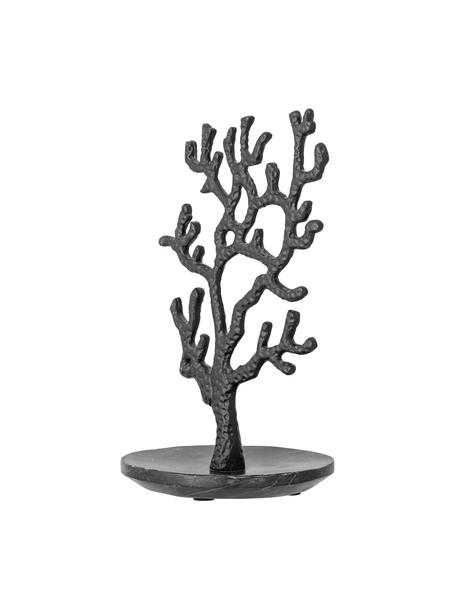 Sieradenhouder Jewo, Aluminiumkleurig, Zwart, 16 x 28 cm