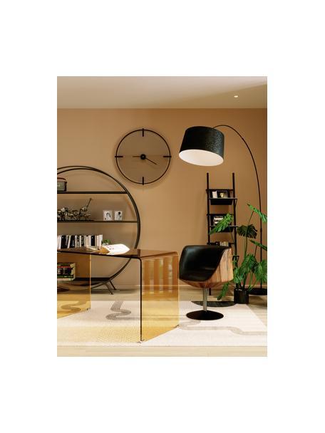 Draaistoel Club in retro design, Bekleding: kunstleer (100% textiel, , Zitvlak: glasvezel, walnoot MDF, g, Poot: gecoat staal, Bruin, zwart, 62 x 61 cm