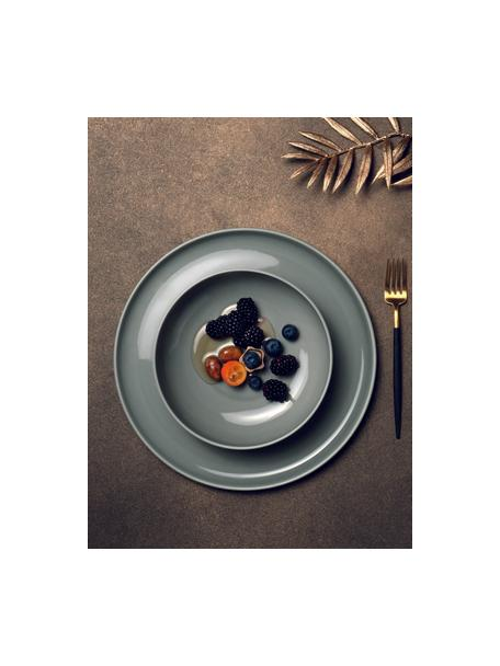 Porzellan-Schälchen Kolibri in Grau glänzend, 6 Stück, Porzellan, Grau, Ø 13 x H 6 cm