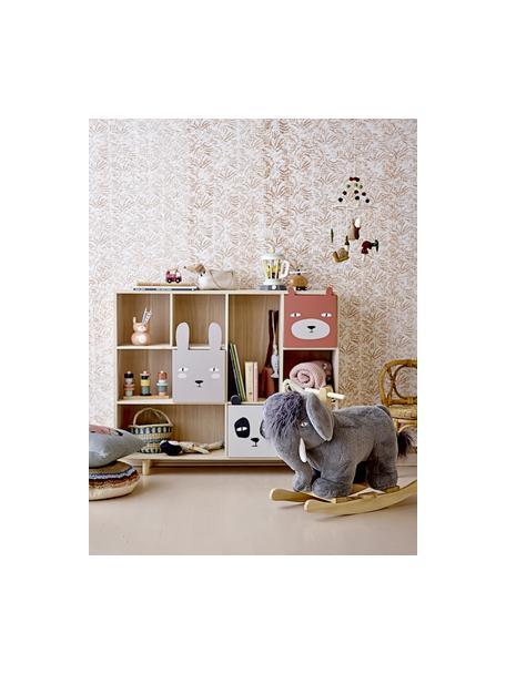 Schommeldier Mammoth, Bekleding: polyester, Frame: populierenhout, Grijs, 34 x 64 cm