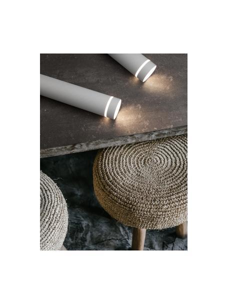 Lámpara de techo pequeña Esca, estilo moderno, Pantalla: aluminio recubierto, Anclaje: aluminio recubierto, Cable: plástico, Blanco, Ø 6 x Al 30 cm