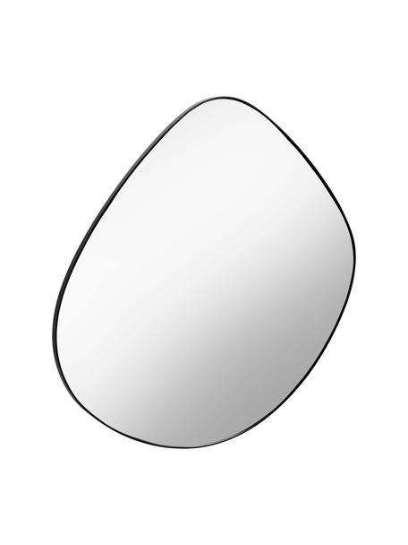 Specchio da parete con cornice nera Anera, Cornice: metallo, Superficie dello specchio: lastra di vetro, Nero, Larg. 93 x Alt. 90 cm