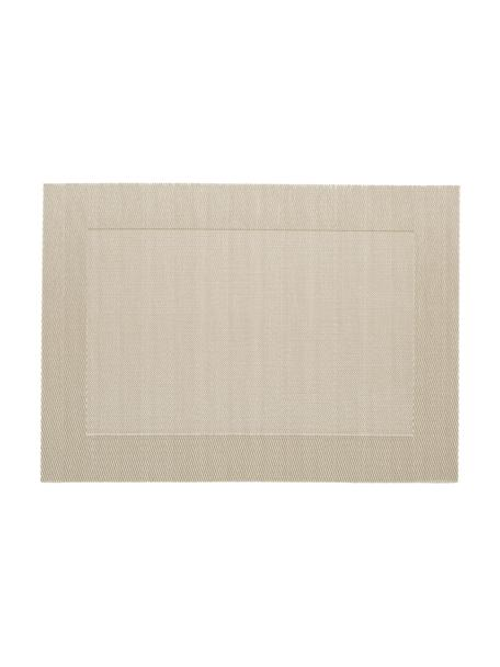Kunststoffen placemats Trefl, 2 stuks, Kunststof Vlekken verwijderen met behulp van een vochtige doek., Beige, crèmekleurig, 33 x 46 cm