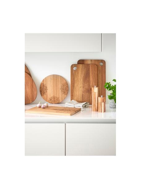 Tabla de cortar de madera de acacia Akana, diferentes tamaños, Tablero: madera de acacia, aceitad, Acacia, L 37 x An 25 cm