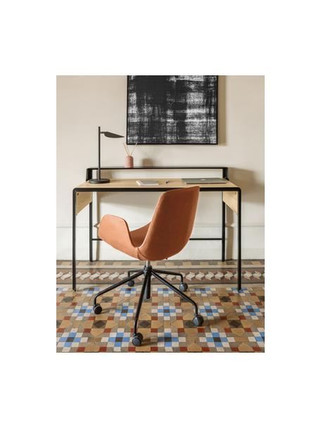 Biurowe krzesło obrotowe ze sztucznej skóry Yolanda, Tapicerka: sztuczna skóra, Stelaż: stal, powlekany, Brązowy, czarny, S 66 x G 72 cm
