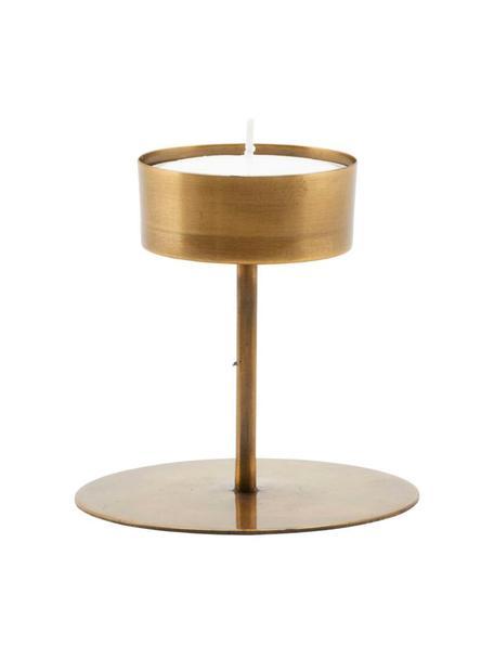 Świecznik na podgrzewacze Anit, Metal powlekany, Odcienie mosiądzu, Ø 11 x W 10 cm