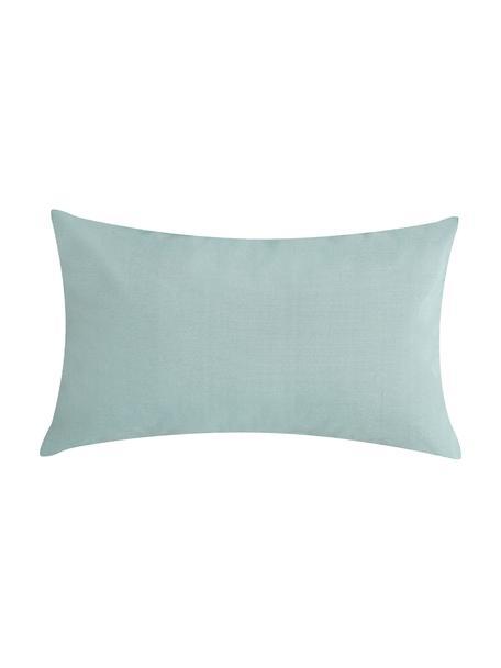 Cuscino da esterno tessuto bicolore St. Maxime, Verde menta, nero, Larg. 30 x Lung. 50 cm