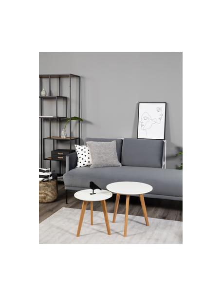 Poszewka na poduszkę ze strukturalną powierzchnią Indi, 100% bawełna, Jasny szary, S 45 x D 45 cm