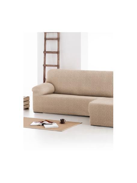 Pokrowiec na sofę narożną Roc, 55% poliester, 35% bawełna, 10% elastomer, Beżowy, S 360 x G 180 cm