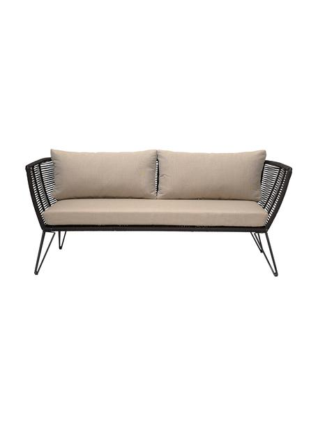 Sofá de exterior Mundo (2plazas), Estructura: metal recubierto en polvo, Asiento: polietileno, Tapizado: poliéster, Beige, An 175 x F 74 cm
