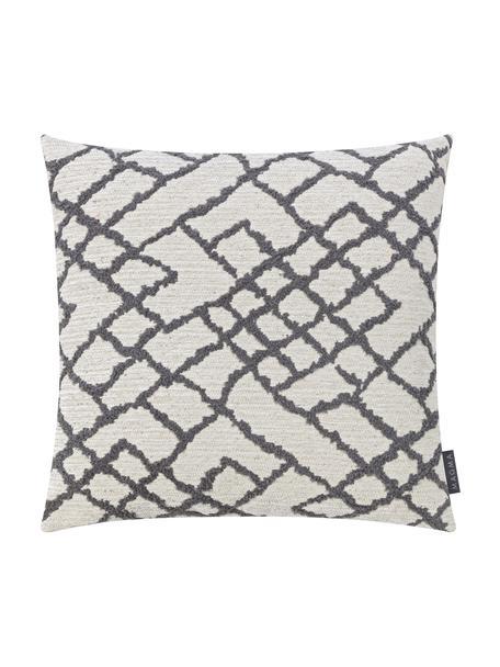 Poszewka na poduszkę z tyłem z aksamitu Malin, Jasny beżowy, antracytowy, S 40 x D 40 cm