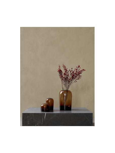 Mondgeblazen vaas Troll, Mondgeblazen glas, Amberkleurig, Ø 13 x H 19  cm