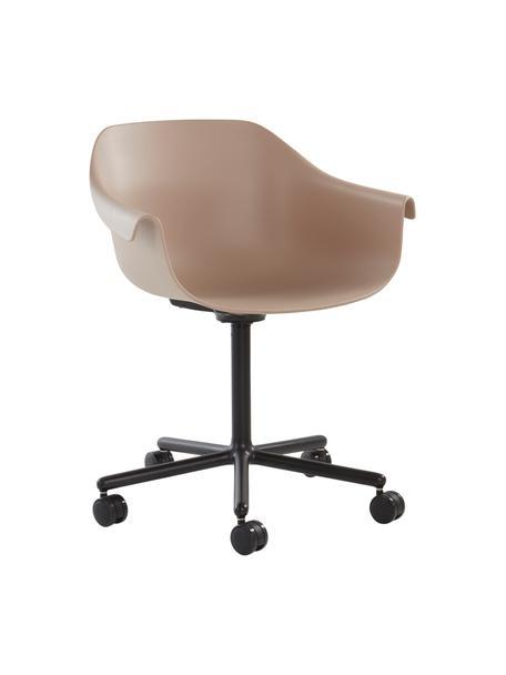 Bürodrehstuhl Warrington in Beige, Sitzfläche: Polypropylen, Gestell: Aluminium, Beige, Schwarz, B 57 x T 63 cm