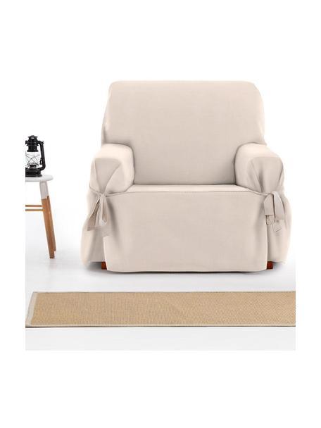 Funda de sillón Levante, 65%algodón, 35%poliéster, Beige, An 110 x F 110 cm