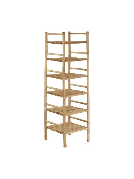 Estantería de bambú Bamra, Madera de bambú, Beige, An 50 x Al 160 cm