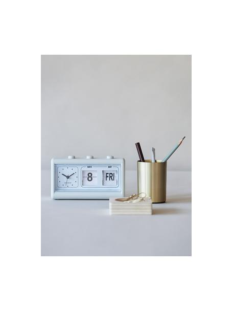 Wekker Retro, Omhulsel: PVC, Lichtgrijs, 19 x 11 cm
