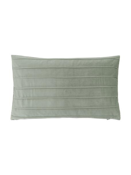 Poszewka na poduszkę z aksamitu Lola, Aksamit (100% poliester), Zielony, S 30 x D 50 cm