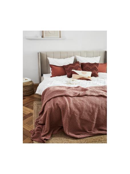 Bedsprei Vigo met gestructureerde oppervlak, 100% katoen, Lichtroze, B 220 x L 240 cm (voor bedden van 160 x 200)
