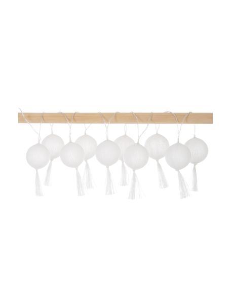 Guirnalda de luces LED Jolly Tassel, 185cm, 10 luces, Cable: plástico, Blanco, L 185 cm