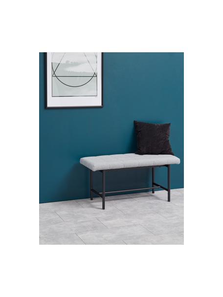 Design zitbank Sigfrid, Bekleding: polyester 25.000 cyclitoe, Frame: multiplex, Poten: gepoedercoat metaalkleuri, Lichtgrijs, 100 x 47 cm