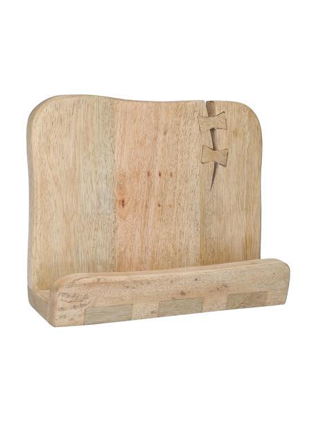 Stojak na książki kucharskie Erba, Drewno mangowe, Drewno naturalne, S 24 x W 15 cm