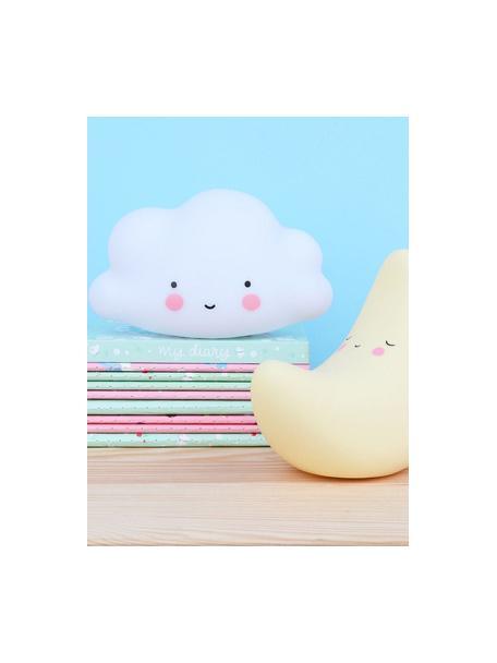 Lámpara decorativa LED pequeña Cloud, con temporizador, Plástico, libre de BPA y plomo, Blanco, rosa, negro, An 17 x Al 10 cm