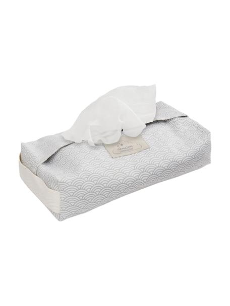 Estuche toallitas Wave, 100%algodón ecológico, Gris, blanco, An 25 x F 17 cm