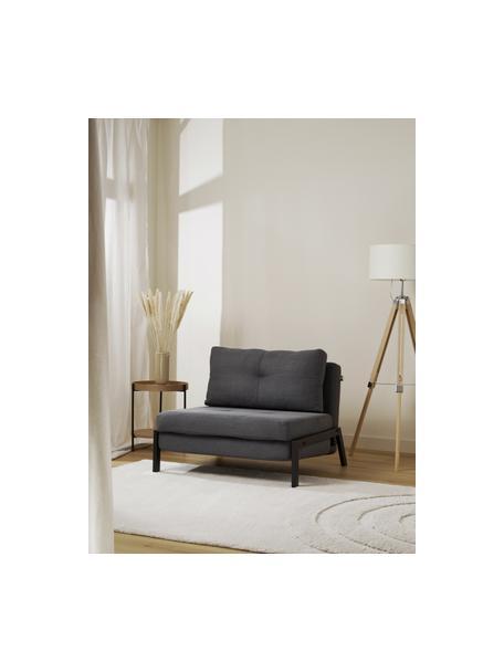 Poltrona letto pieghevole grigio scuro Edward, Rivestimento: 100% poliestere 40.000 ci, Tessuto grigio scuro, Larg. 96 x Prof. 98 cm