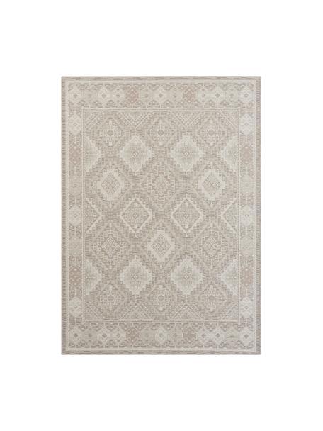 Tappeto con motivo etnico color beige/grigio Lina, 48% juta, 43% lana, 9% viscosa, Beige, grigio, Larg. 140 x Lung. 200 cm (taglia S)